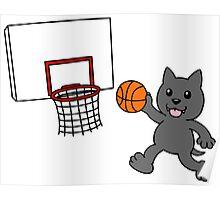 wolfpupy basketball Poster