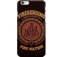 Firebending university iPhone Case/Skin
