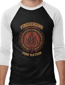 Firebending university Men's Baseball ¾ T-Shirt