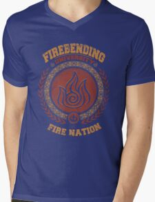 Firebending university Mens V-Neck T-Shirt