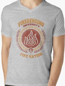 Firebending university Mens V-Neck T-Shirt
