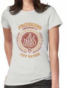 Firebending university Womens Fitted T-Shirt