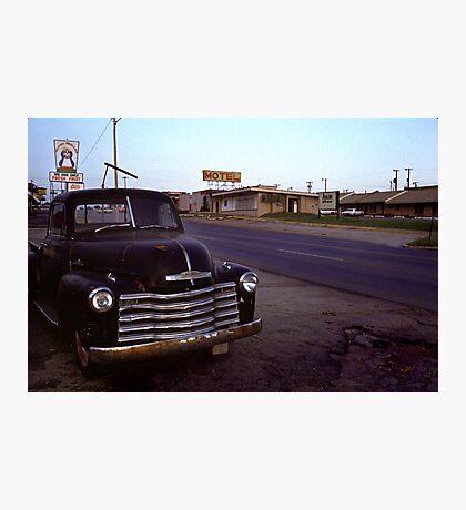 Motel Mid America Photographic Print