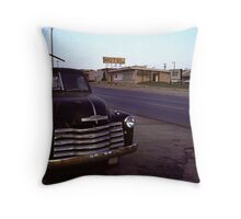 Motel Mid America Throw Pillow
