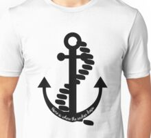 Home is Where the Anchor Drops - b&w Unisex T-Shirt