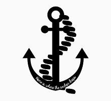 Home is Where the Anchor Drops - b&w Unisex T-Shirt