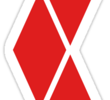 Red Diamonds Sticker