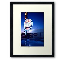 Vegas motel pool evening Framed Print