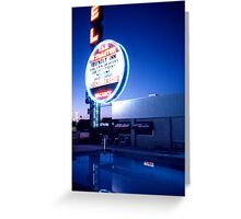 Vegas motel pool evening Greeting Card