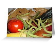 STATE FAIR VEGETABLES Greeting Card