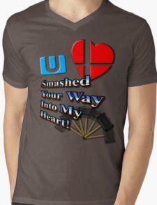 Super Smashed Heart Mens V-Neck T-Shirt