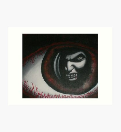 original acrylic vampire painting Art Print