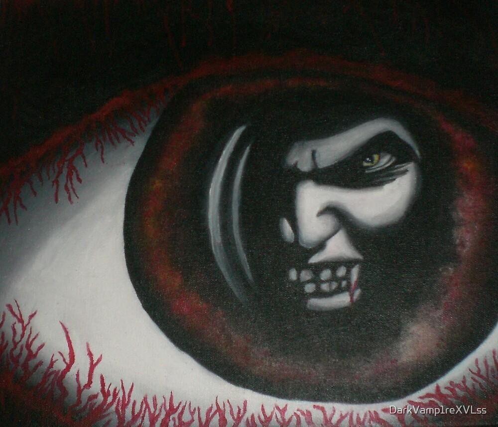 original acrylic vampire painting by DarkVamp1reXVLss