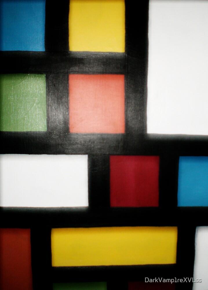 original pattern acrylic painting by DarkVamp1reXVLss
