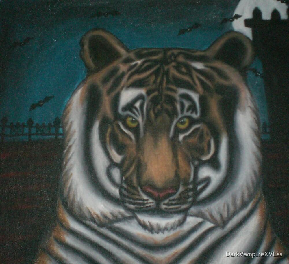original acrylic tiger painting by DarkVamp1reXVLss