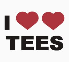 I Heart Heart Tees Tee by rufflesal