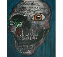 original skull painting interpreting a poem by Emily Dickenson Photographic Print
