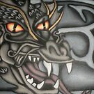 original dragon head painting by DarkVamp1reXVLss