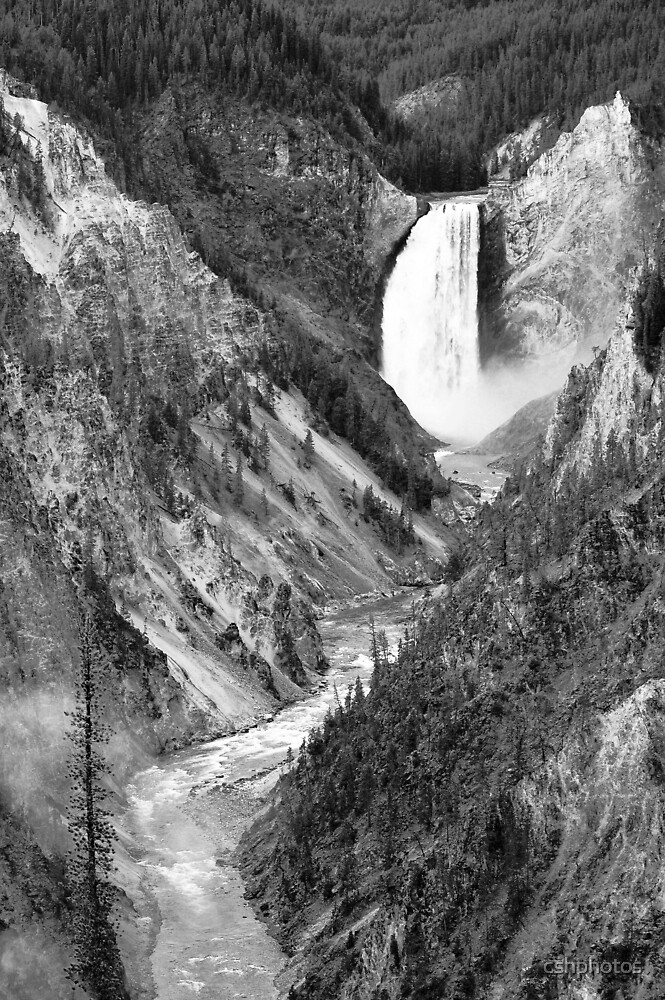 Yellowstone National Park, Upper Falls by cshphotos