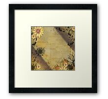 Fall Sunflowers Framed Print
