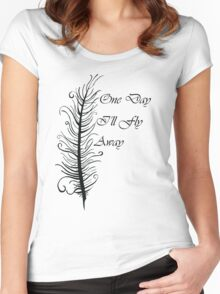 One Day I'll Fly Away Women's Fitted Scoop T-Shirt