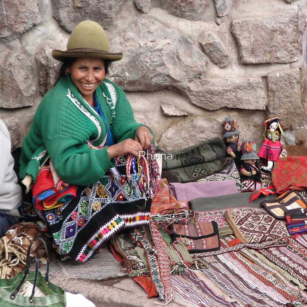 Market stall, Peru by Rhona