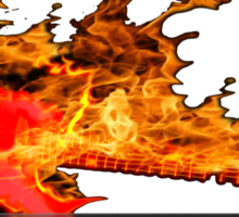 guitar fire Sticker