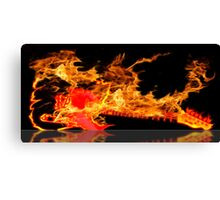 guitar fire Canvas Print