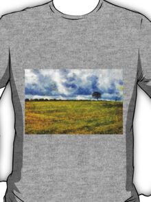 Country landscape with dramatic cloudscape T-Shirt