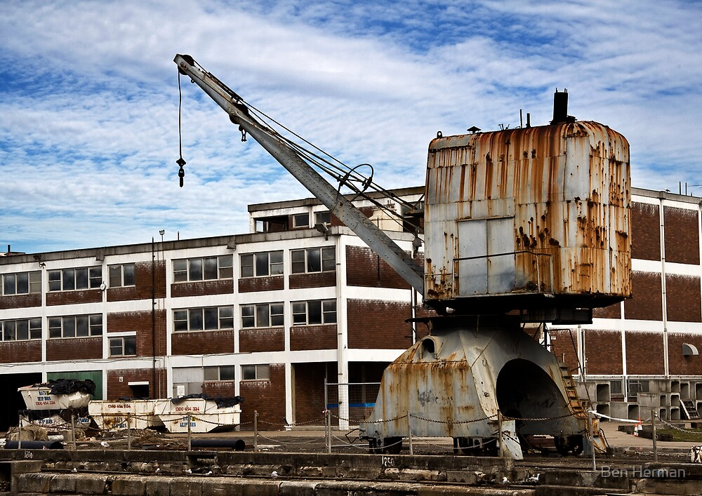 Crane and Submarine Building (Cockatoo Island) by Ben Herman