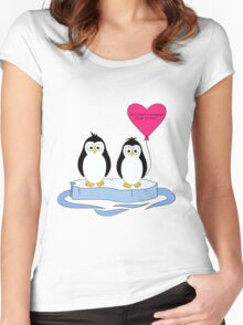 Penguin Kind of Love Women's Fitted Scoop T-Shirt