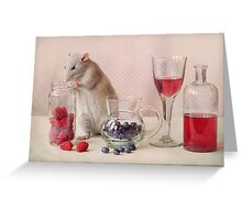 Jimmy in still life Greeting Card