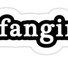 Fangirl - Hashtag - Black & White Sticker