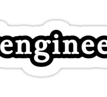 Engineer - Hashtag - Black & White Sticker
