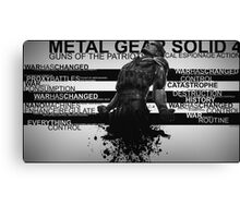 Metal Gear Solid 4 - War Has Changed Canvas Print