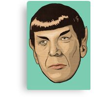 floating Spock head Canvas Print