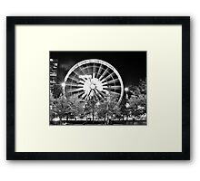 Skyview in a Black and White Night Framed Print