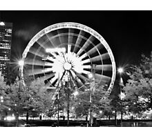 Skyview in a Black and White Night Photographic Print