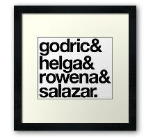 Teachers and Wizards Framed Print
