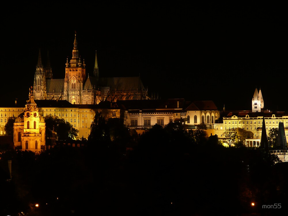 Prague Castle Night View by mon55