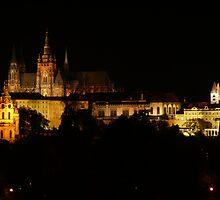 Prague Castle Night View by mon55