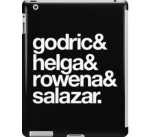 Teachers and Wizards-White Text iPad Case/Skin