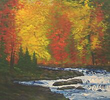 Autumn River by William  Boyer