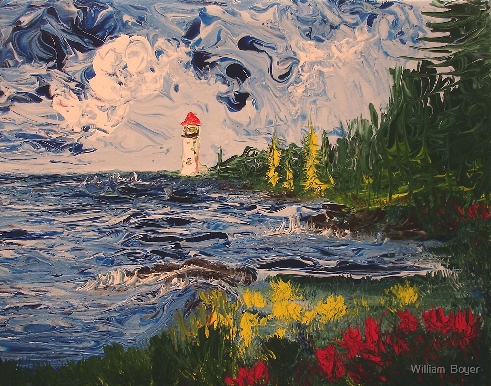 Lighthouse Sea by William  Boyer