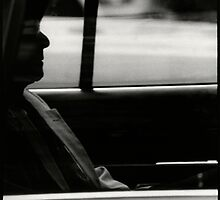 Man in a taxi by laurencedodd