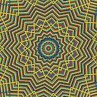 Colour elastic bands kaleidescope pattern. by britishphotos