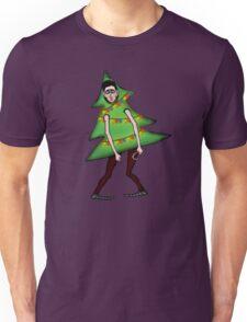 Man in Christmas costume Unisex T-Shirt
