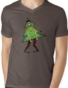 Man in Christmas costume Mens V-Neck T-Shirt