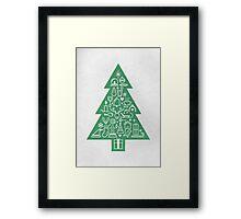 Christmas Tree Icons Framed Print
