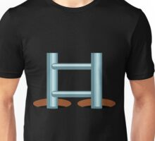 Glitch Land Tower Quest ladder tile cap 1 blue Unisex T-Shirt